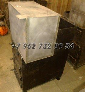 Печь железная для бани с баком
