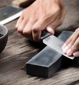 Заточка ножей, ножниц, опасных бритв.
