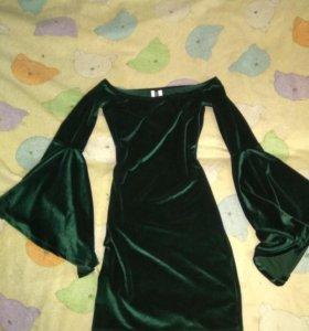 Платье из велюра
