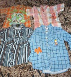 Рубашки,шорты,костюм.