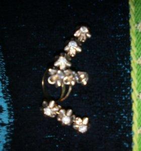 Набор:серёжки с кольцом