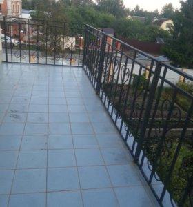 Кованное ограждение для балкона