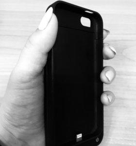 Чехол зарядник на айфон 5S черный матовый