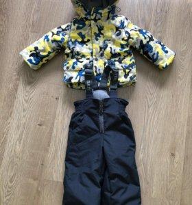 Демисезонный утеплённый комплект (куртка,полукомб)