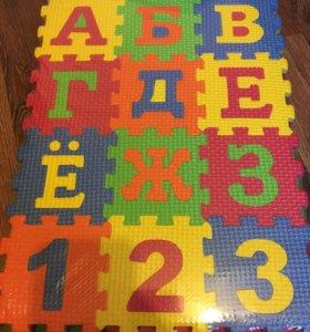 Пазлы для малышей из эва(8*8), 12 деталей