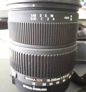 Sigma DC 18-200 f/3,5-6,3 OS для Canon