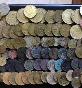 Монеты СССР 97шт