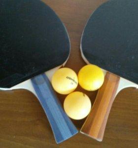 Ракетки для настольного тенниса абсолютно новые
