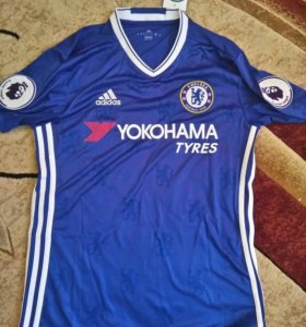 Футболка Chelsea Home Shirt 2016-2017 David Luiz