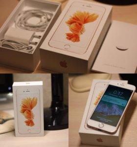 iPhone 6s 64 ПК + 5 чехлов + 3 стекла + 1 пленка.
