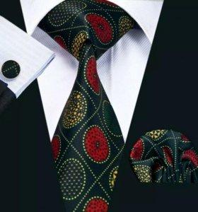 Мужской набор (галстук, платок и запонки) #5