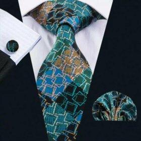 Мужской набор (галстук платок и запонки) #8