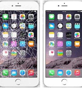 Модуль на iPhone 4-4s+ремонт+Защитное стекло.
