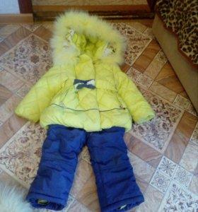 Костюм зимний для девочки очень теплый