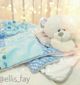 Конверт на выписку, детское одеяло