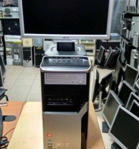 Cистменый блок acer 2х ядерный с монитором