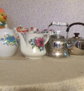 Заварочные чайники и сахарницы