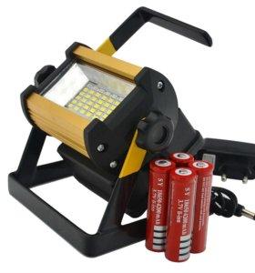 Фонарь прожектор аккумуляторный W807 36 LED, 50W