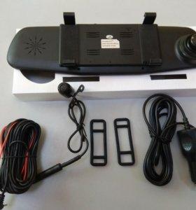 Зеркало видео-регистратор с 2-мя камерами! Full HD