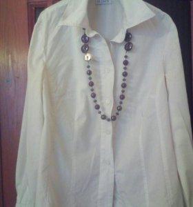 Блуза, хлопок, размер 50