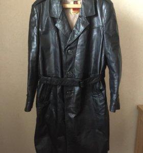 Кожаное пальто Omex, мужское, Польша