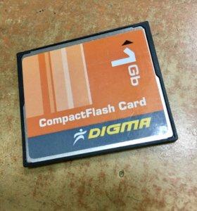 Карта CompactFlash 1Gb