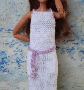 Вязаное платье для Барби (Barbie)
