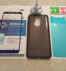 Стекло защитное и пленка для Xiaomi Redmi 5 Plus