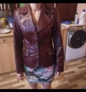 Куртка пиджак(кожа)