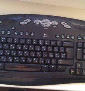Клавиатура и мышь (беспроводные) + конект.
