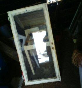Рамы деревянные оконные со стеклом