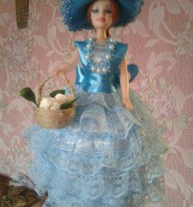 Кукла шкатулка высота 31 см. Ручной работы в нали