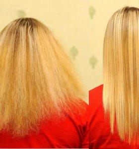 Кератиновае выпрямление волос