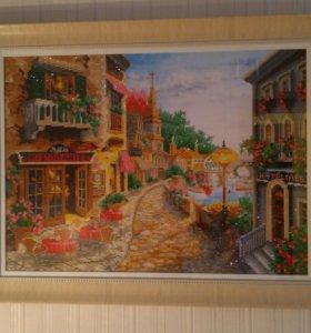 "Картина ""Ресторан. Отель. Дорога."""
