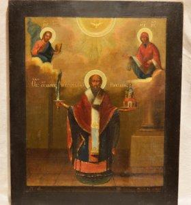 Икона старинная Николай Можайский