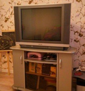Телевизор hitachi 70см и тумба