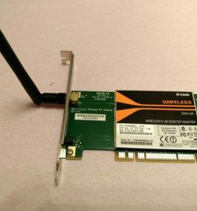 Сетевая беспроводная карта Wi-Fi D-link DWA-525