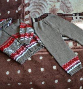 Шерстяной костюм от 1-2лет