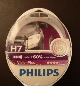 Галогеновые лампы Philips H7 VisionPlus
