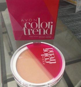 Компактная пудра для лица Color Trend Avon