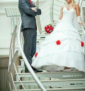 Костюм мужской и свадебное платье
