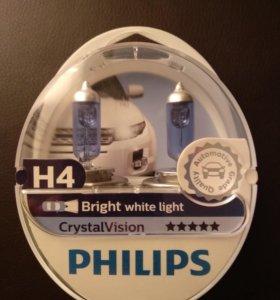 Галогеновые лампы Philips H4 CrystalVision