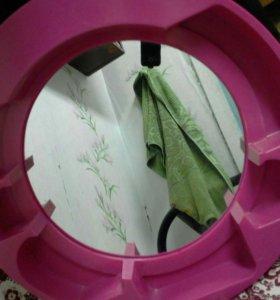 Пластмассовое зеркало.