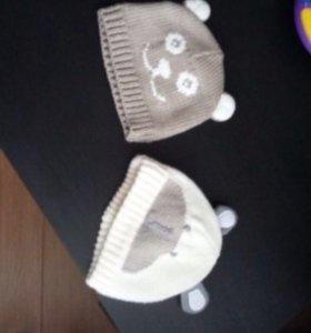 Вязаные шапочки,новые