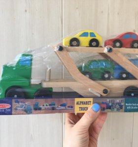 Деревянный автовоз