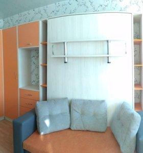 шкаф, кровать, стенка лдсп