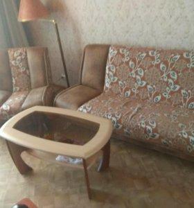 Диван кресло журнальный столик