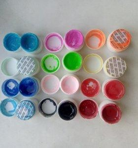 Разноцветные гели