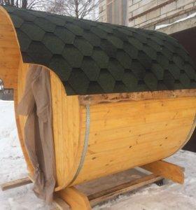 Баня бочка 2 м каркас