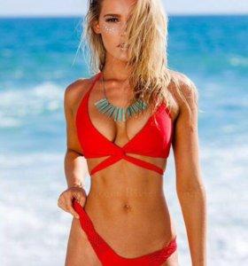Новое красное бикини Riviera Coco с перехлестом
